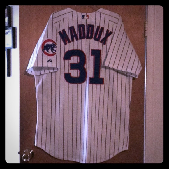 hot sale online 8bb20 e3f46 Authentic Cubs Greg Maddux Jersey, Size 48
